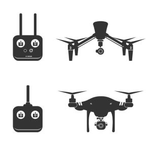 43543809 - drone video aerial fly vector illustration